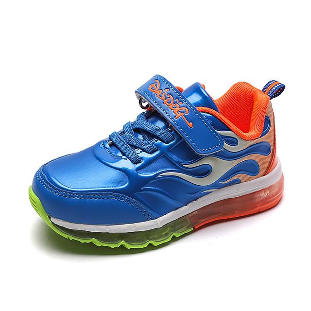 للصبيان للفتيات أحذية رياضية مريح PU الأطفال الصغار (4-7 سنوات) الأطفال الصغار (7 سنوات +) مناسب للبس اليومي المشي أسود أحمر أزرق الخريف الربيع