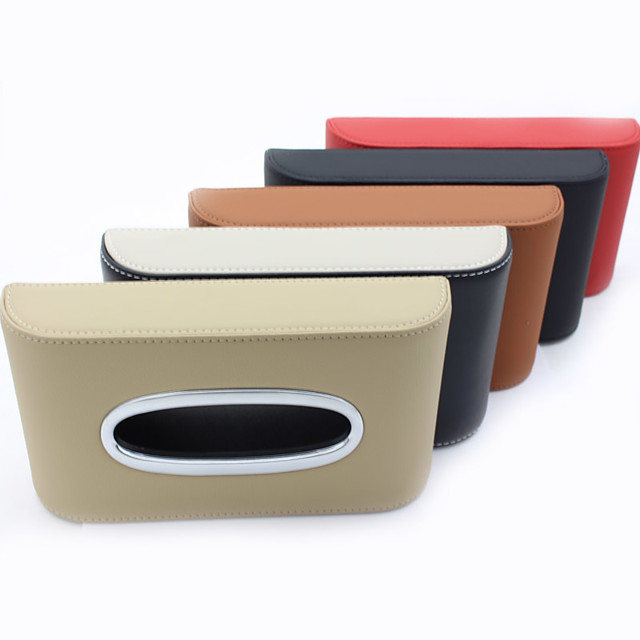 Car Organizers Tissue Box Leather For universal All years