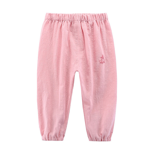 Toddler Girls' Pants Geometric Blue Red Blushing Pink