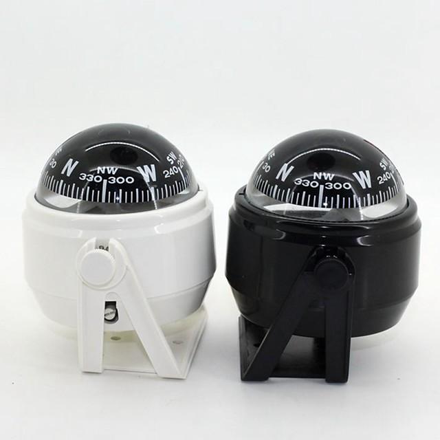Marine Compass plastic cu suport și cu barca Caravan Camioane 12V LED-uri de lumină ZW-550--Black/White