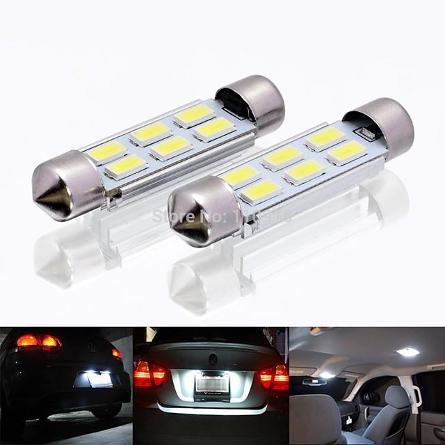 Automatique LED Éclairage intérieur 36 mm Ampoules électriques 120 lm SMD 5730 2 W 6 Pour 2 Pièces