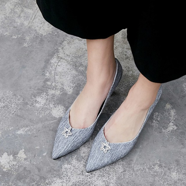Women's Wedding Shoes Stiletto Heel Pointed Toe Wedding Pumps Wedding Daily PU Synthetics Pink Gray