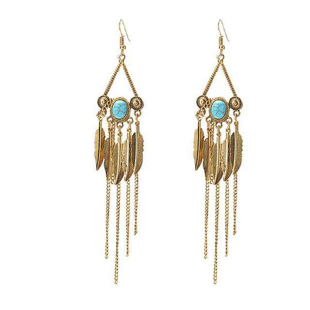 Women's Drop Earrings Dangle Earrings Tassel Fringe Precious Vintage Boho Resin Earrings Jewelry Gold / Silver For Christmas Halloween Party Evening Street Gift 1 Pair