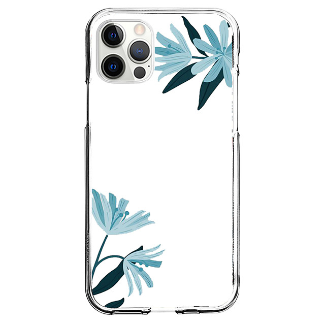 Scenery Floral Case For Apple iPhone 12 iPhone 11 iPhone 12 Pro Max Unique Design Protective Case Shockproof Dustproof Pattern Back Cover TPU