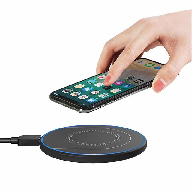 WAZA 15 W Puissance de sortie Pad de chargement sans fil Chargeur Sans Fil Portable avec câble Charge Rapide Invalide Pour Apple iPhone 12 11 pro SE X XS XR 8 Samsung Glaxy S21 Ultra S20 Plus S10