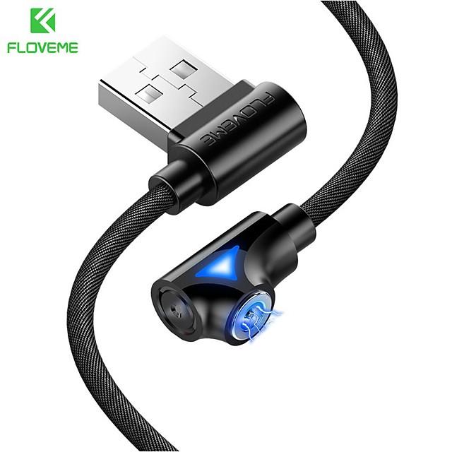 FLOVEME Micro USB Câble Normal Transmission de données Chargeur de téléphone 2 A 1.0m (3ft) Aluminium Pour Samsung Xiaomi Huawei Accessoire de Téléphone