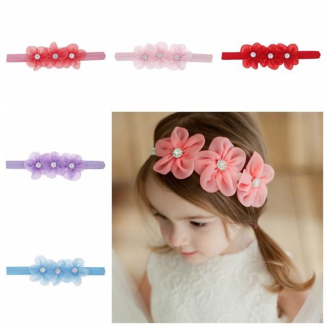 1 pz Bambino (1-4 anni) / Bebè Da ragazza Dolce Fantasia floreale Stile Floreale Accessori per capelli Bianco / Blu / Viola Taglia unica