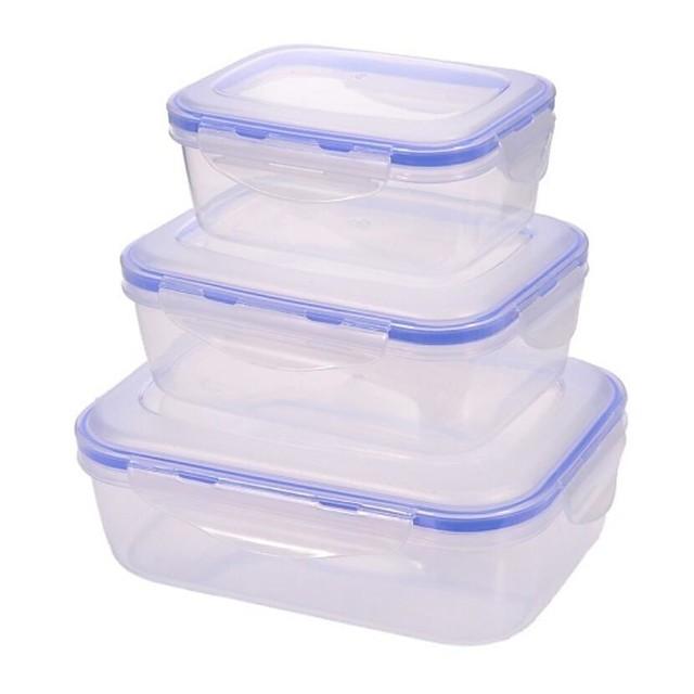 2 יחידות קופסאות אחסון פלסטיק צנצנות ותיבות לבוש יומיומי 500 ml אחסון מטבח