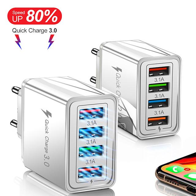 Gyári Outlet 220 W Kimenő teljesítmény USB Telefon töltő Hordozható töltő Töltő Több csatlakozós QC 3.0 CE / EU EGK Kompatibilitás Xiaomi MI HUAWEI Apple iPhone 12 11 pro SE X XS XR 8 Samsung Glaxy