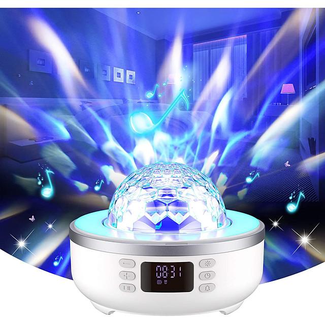 Lampe Projecteur Etoile Galaxie avec haut-parleur de musique Bluetooth Projecteur LED rotatif Couleurs dimmables Soirée Mariage Cadeau Couleur aléatoire