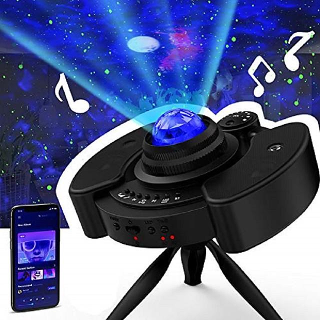 Lampe Projecteur Etoile Galaxie 116 Télécommande avec haut-parleur de musique Bluetooth Projecteur de lumière laser Soirée Mariage Cadeau RGB + Blanc
