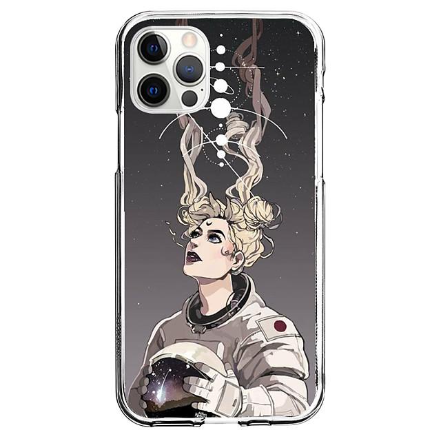 رائد الفضاء قضية إلى عن على تفاحة، مدينة، قط آيفون 12 اي فون 11 آيفون 12 برو ماكس تصميم فريد حالة وقائية ضد الصدمات غطاء خلفي TPU