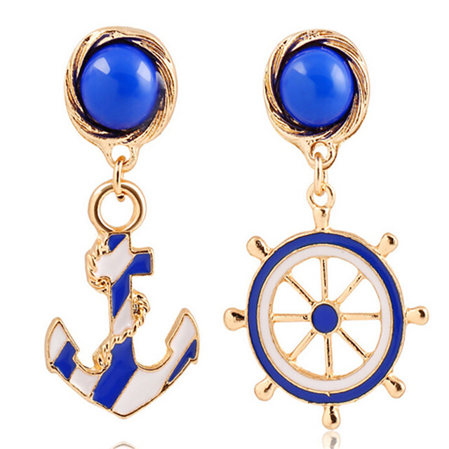 Women's Drop Earrings Classic Anchor Stylish Earrings Jewelry Gold For Street Date Vacation Festival 1 Pair