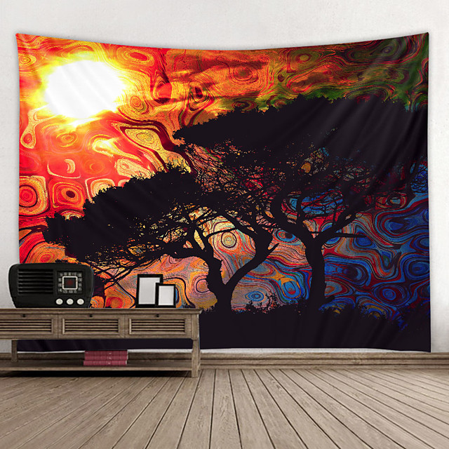 Wall Tapestry Art Decor Blanket Curtain Hanging Home Bedroom Living Room Decoration and Psychedelic and Abstract and Landscape