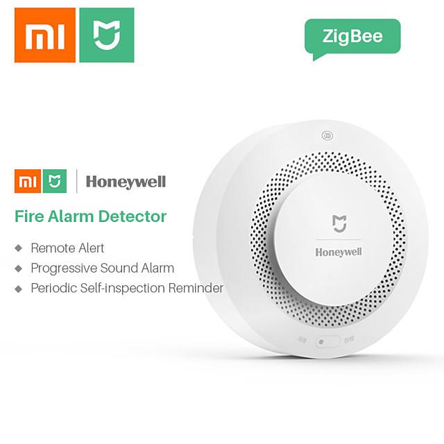 xiaomi mijia honeywell alarme capteur de sécurité feu détecteurs de fumée et de gaz multifonction 2 sécurité à domicile intelligente avec contrôle de la batterie wifi pris en charge ios / android pour