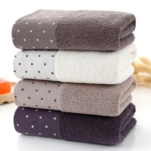 Qualità superiore Asciugamano medio, A pois Puro cotone Camera da letto / Bagno 2 pcs