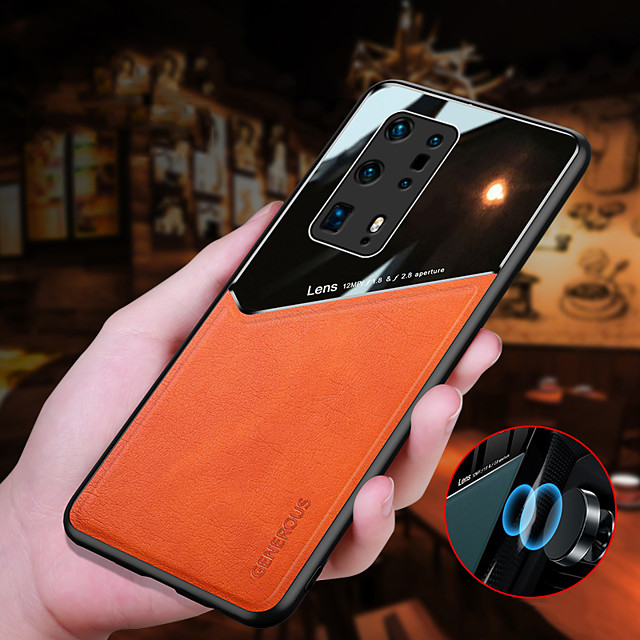 Phone Case For Huawei Back Cover Nova 8 Pro HUAWEI P40 HUAWEI P40 Pro HUAWEI P40 Pro+ Mate 40 Mate 40 Pro Mate 40 Pro+ Huawei P20 lite Huawei P30 Huawei P30 Pro Shockproof Solid Colored PU Leather