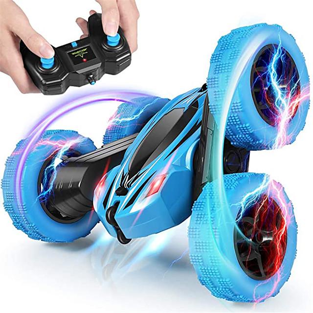 لعبة سيارات سيارة تعمل بالتحكم من بعد سرعة عالية قابلة لإعادة الشحن دوران360ْ تحكم عن بعد جهتين مضاعفتين 1:24 بوجي (الطرق الوعرة) حيلة السيارات سيارة السباق 2.4G من أجل للأطفال للبالغين هدية