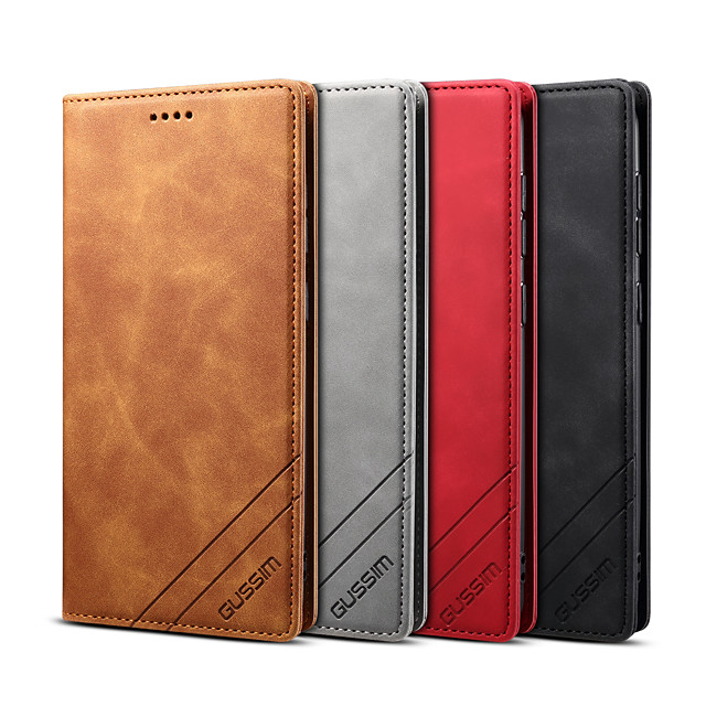 Phone Case For Samsung Full Body Case Wallet Card S20 S20 ultra S20 FE 5G S9 S9 Plus S10 S10 + Wallet Shockproof Magnetic Solid Colored PU Leather TPU
