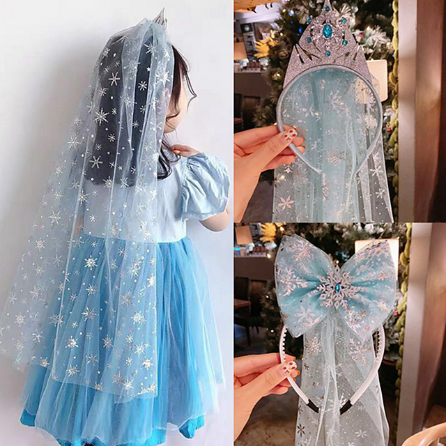 1pcs Kids / Toddler Girls' Active / Sweet Blue Solid Colored Tulle Rayon Hair Accessories Blue / Light Blue