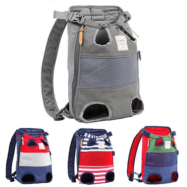 Dog Cat Pets Carrier Bag Travel Backpack Front Backpack Sling Shoulder Bag Portable Breathable Adjustable / Retractable Color Block Fabric puppy Small Dog Medium Dog Outdoor Hiking Red Blue Green