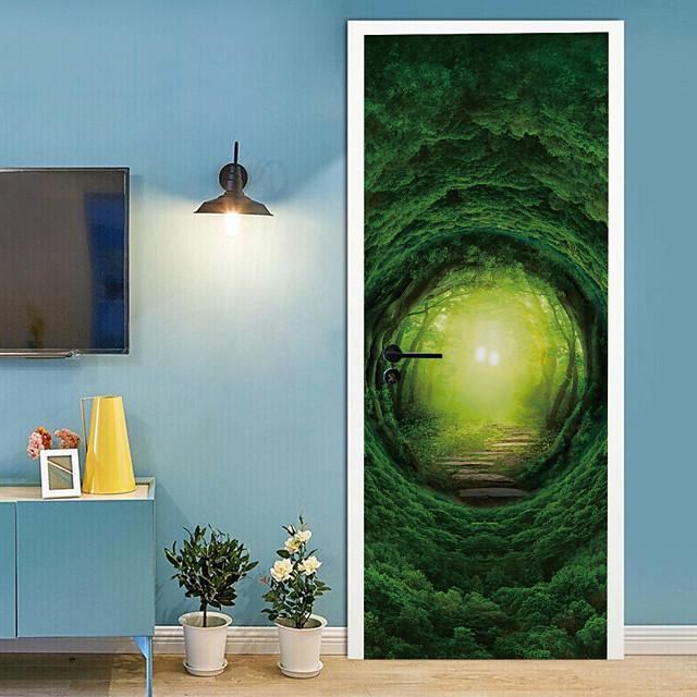 عطلة ملصقات الحائط غرفة النوم / غرفة المعيشة, قابل للنقل فينيل الديكورات المنزلية جدار ملصق مائي 2 قطع