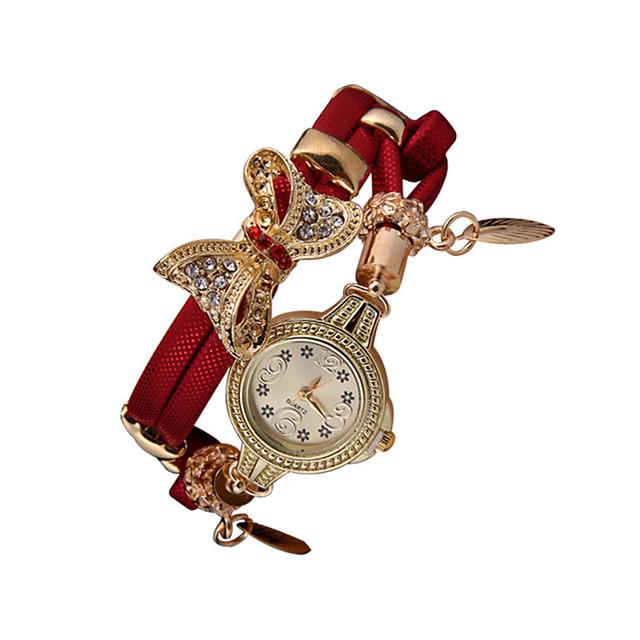Women's Quartz Watches Analog - Digital Quartz Glitter Bow Butterfly Diamond Creative / PU Leather