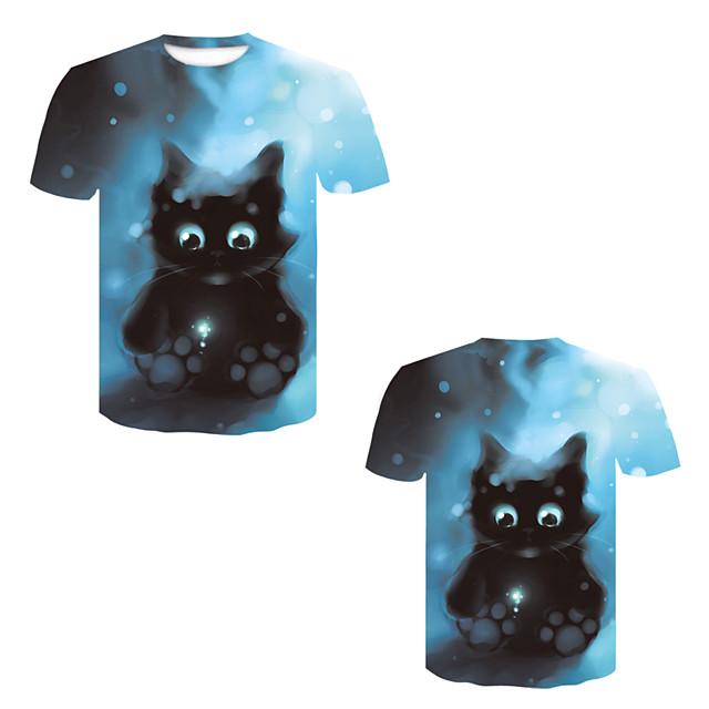 Men's T shirt 3D Print 3D Rivet Mesh Short Sleeve Casual Tops Black