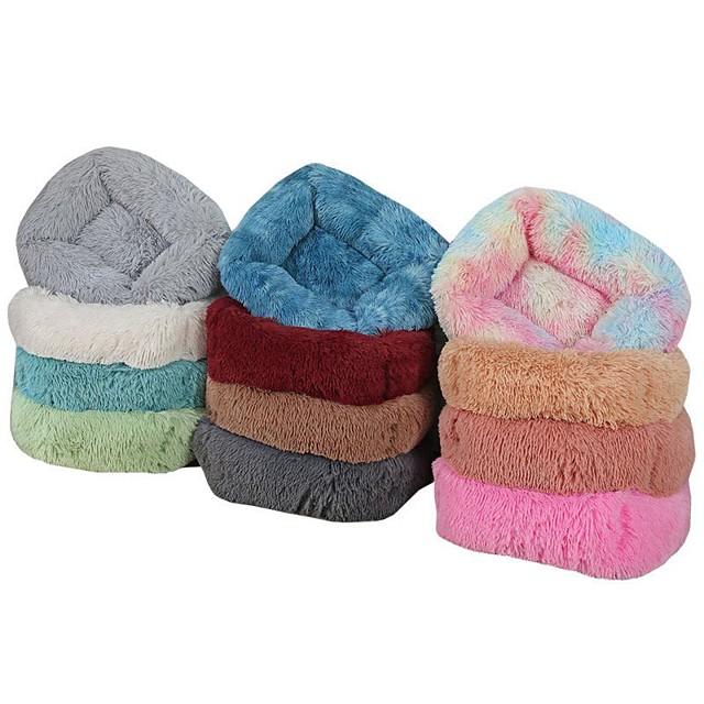 Dog Cat Dog Beds Cat Beds Dog Bed Mat Shell Warm Multi layer Soft Elastic For Indoor Use Plush Fabric for Large Medium Small Dogs and Cats
