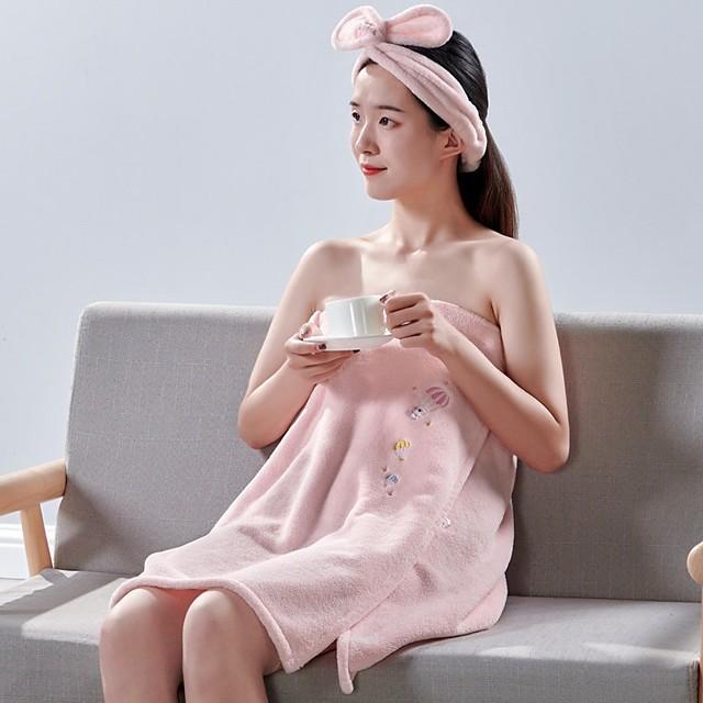 Bath Towel Household Quick-drying Absorbent Towel Bath Skirt Hair Dryer Cap Set Tube Top Bathrobe