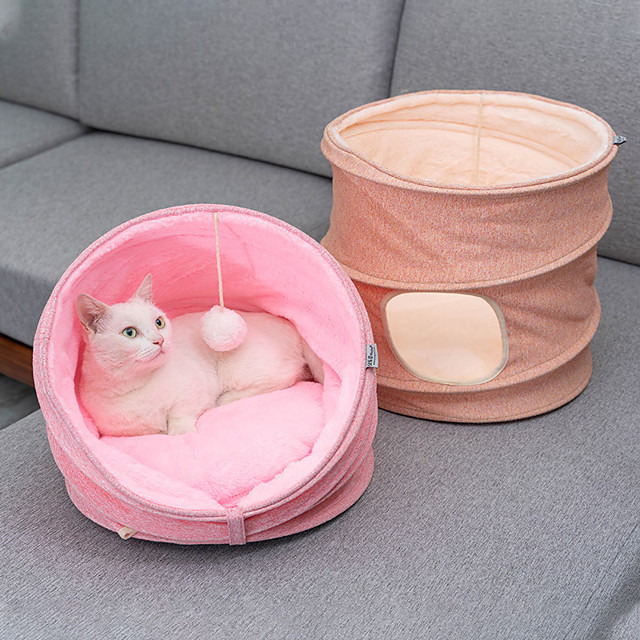 Cat Dog Beds Cat Beds Dog Bed Mat Classic Tunnel Relieves Stress Washable Cartoon For Indoor Use Fabric for Large Medium Small Dogs and Cats