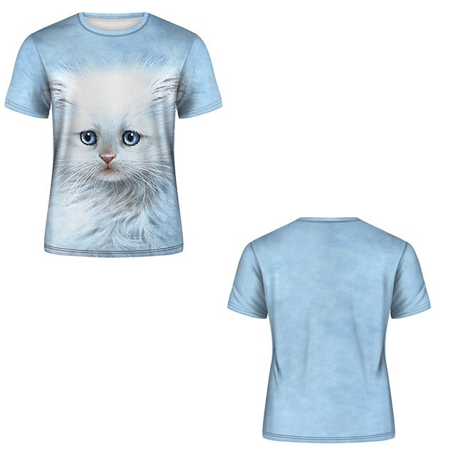 Men's T shirt 3D Print 3D Rivet Mesh Short Sleeve Casual Tops Gray / White