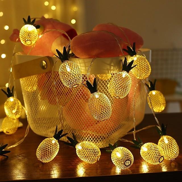 1,5 m Guirlandes Lumineuses 10 LED 1 jeu Blanc Chaud Noël Nouvel An Soirée Décorative Vacances Piles AA alimentées