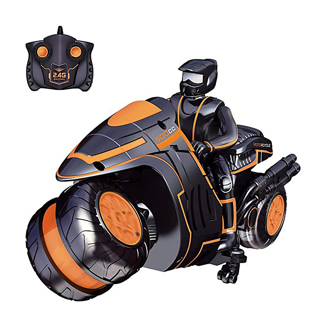 Toy Car Remote Control Car High Speed Rechargeable 360° Rotation Remote Control / RC Double Sided Motorcycle Racing Car 2.4G For Kid's Adults' Gift