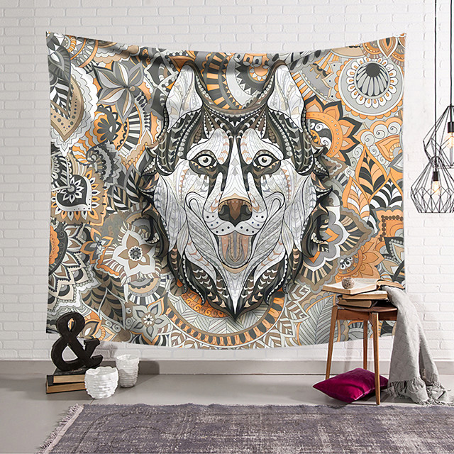 Wall Tapestry Art Decor Blanket Curtain Hanging Home Bedroom Living Room Decoration Polyester Color Wolf