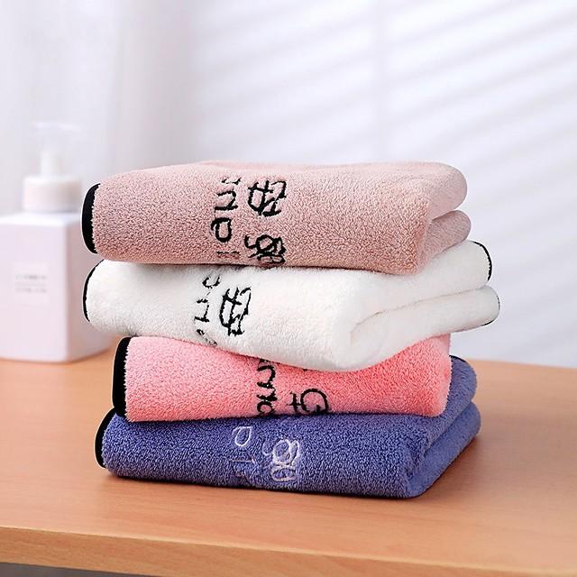 serviette pour le visage en molleton de corail serviette épaissie absorbante pour le visage serviette de ménage douce et sèche