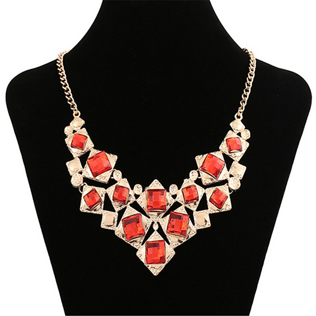 Women's Synthetic Ruby Choker Necklace Classic Flower Fashion Alloy Gold 45+5 cm Necklace Jewelry 1pc For Anniversary Party Evening Gift Festival