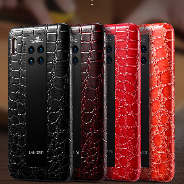 Phone Case For Huawei Back Cover Leather HUAWEI P40 HUAWEI P40 Pro Mate 40 Mate 40 Pro Mate 30 Mate 30 Pro Shockproof Solid Colored PU Leather