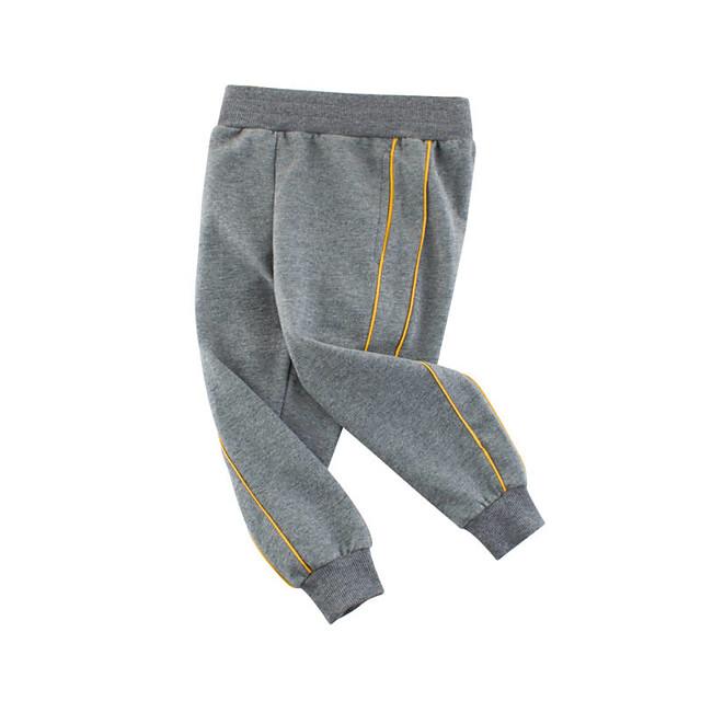 Kids Boys' Pants Solid Colored Basic Streetwear Black Gray 2-9 Years