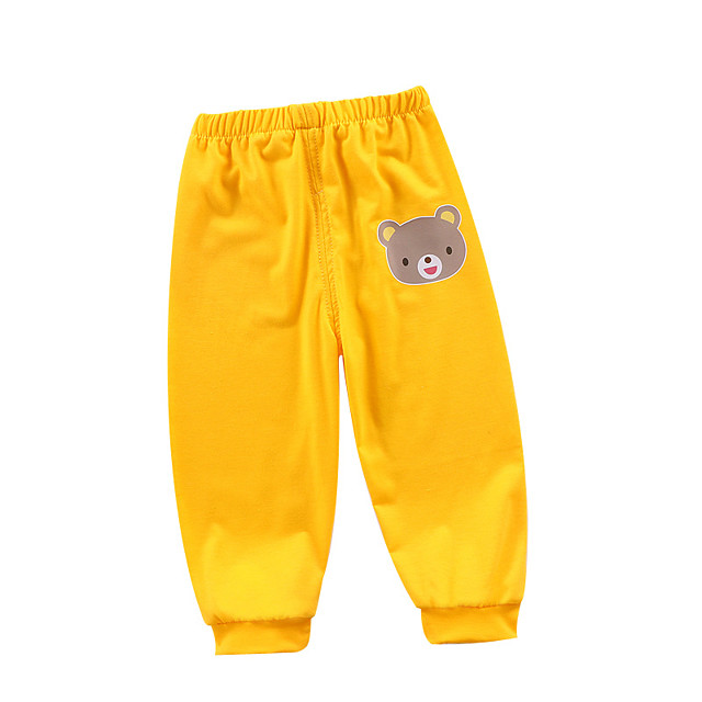 Kids Boys' Pants Graphic Print Basic Red Yellow