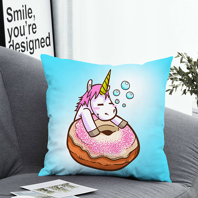 1 pcs Polyester Pillow Cover Pillow Cover & Insert, Animal Simple Classic Square Zipper Polyester Traditional Classic