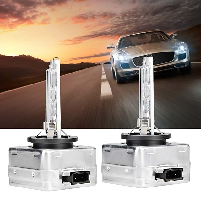 1 paire d1s voiture lumière rapide lampe au xénon 6000k phares ampoule de rechange pour rv suv mpv voiture standard voltage12v