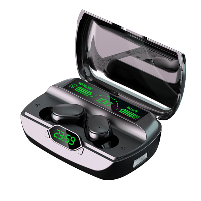 G6 TWS Wireless Earbuds Bluetooth 5.1 Touch Control Earphones LCD Display Stereo Music Headsets Sport Waterproof Charging Box Music Headphones