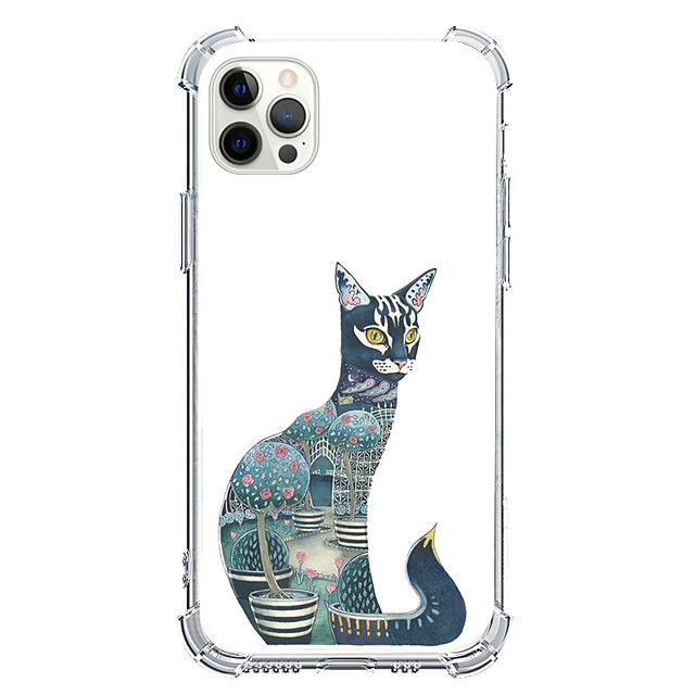 Catus Animal Case For Apple iPhone 12 iPhone 11 iPhone 12 Pro Max Unique Design Protective Case Shockproof Pattern Back Cover TPU
