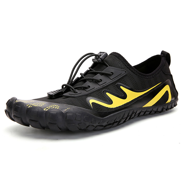 Unisex Trainers Athletic Shoes Casual Athletic Outdoor Upstream Shoes Elastic Fabric Massage Non-slipping Shock Absorbing Black / Silver Black / Yellow Black Color Block Fall Spring