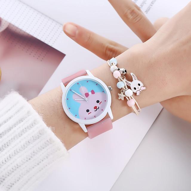 Women's Quartz Watches Analog Quartz Stylish Cartoon Creative Large Dial / Silicone