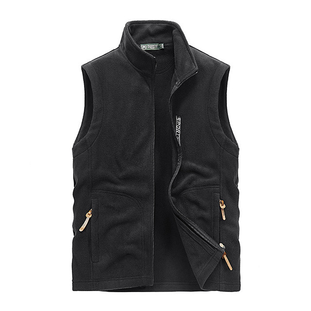 Men's Fishing Vest Outdoor Thermal Warm Multi-Pockets Quick Dry Lightweight Vest / Gilet Autumn / Fall Winter Spring Fishing Photography Camping & Hiking Black Army Green Blue / Cotton / Sleeveless