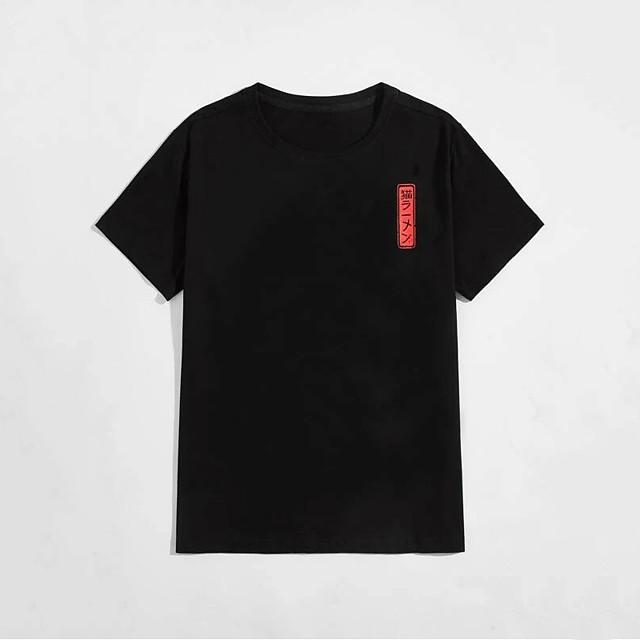 Men's T shirt Hot Stamping Cat Graphic Prints Animal Print Short Sleeve Daily Tops 100% Cotton Basic Fashion Classic Black