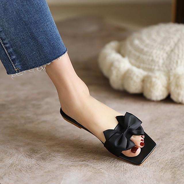 Women's Sandals Chunky Heel Square Toe PU Synthetics Black Yellow Green