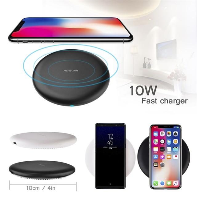 Cwxuan Pad de chargement sans fil Chargeur Sans Fil Chargeur Sans Fil Charge Rapide Qi Pour Apple iPhone 12 11 pro SE X XS XR 8 Samsung Glaxy S21 Ultra S20 Plus S10 Note20 10 Airpods 1/2 / Pro